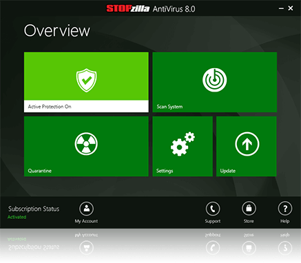 AntiVirus 8.0 Screenshot