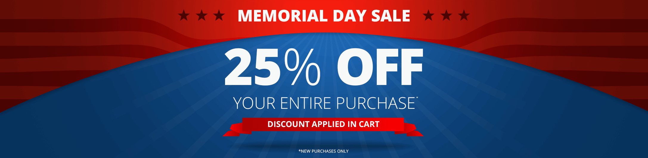 25% Off Memorial Day Sale